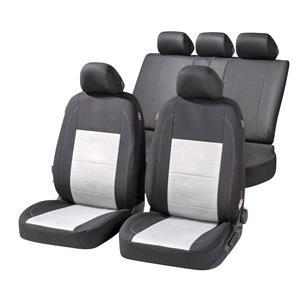 Seat Covers, Walser Avignon Car Seat Cover Set - Black & Grey For Mitsubishi OUTLANDER 2003-2006, Walser