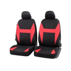 Seat Covers, Walser Caledon Front Car Seat Covers - Black & Red for Peugeot 207 Saloon 2007 Onwards, Walser