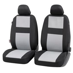 Seat Covers, Walser Glasgow Front Car Seat Covers - Black & Grey for Peugeot 207 Saloon 2007 Onwards, Walser