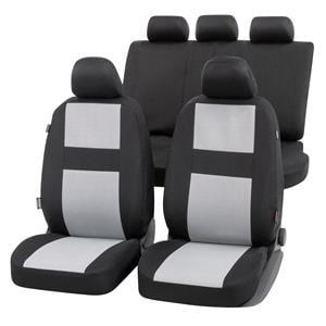 Seat Covers, Walser Glasgow Car Seat Cover Set - Black & Grey for Peugeot 207 Saloon 2007 Onwards, Walser