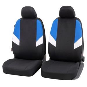Seat Covers, Walser Cala Front Car Seat Covers - Black, Blue & White for Peugeot 207 Saloon 2007 Onwards, Walser
