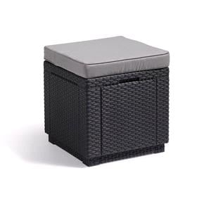 Storage boxes, Keter Cube Seat and Storage Box - Grey, Keter
