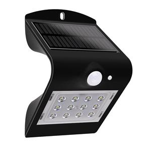 Garden Lights, Luceco Solar LED Wall and Fence Light with PIR - 1.5W, Luceco
