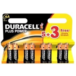 Chargers And Power Supply, Duracell AA Batteries 5+3 FREE, Duracell
