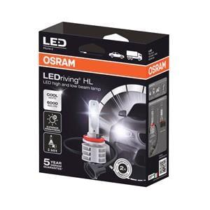 Bulbs - by Bulb Type, Osram 12/24V 14W LED Driving Off Road Cool White H11 Bulbs - Twin Pack, Osram