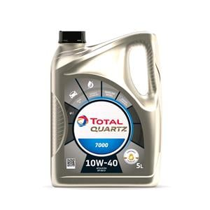 Engine Oils and Lubricants, TOTAL Quartz 7000 10w40 Engine Oil - 5 Litre, Total