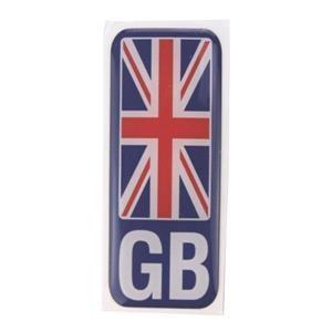 Caravan Accessories, Number plate sticker - GB union Jack - Polydome, CASTLE PROMOTIONS