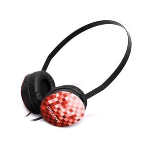 Headphones, Creative Labs Lightweight Sport Headphones - Red, Creative Labs