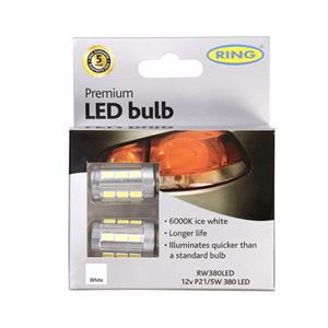 Bulbs - by Bulb Type, 12V P21-5W 6000K Premium LED - Long Life, Ring