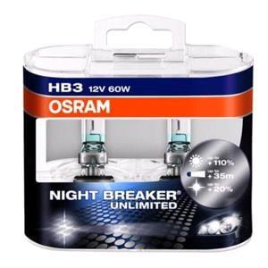 Bulbs - by Bulb Type, Osram Night Breaker unlimited HB3 Bulb  - Twin Pack, Osram