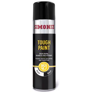 Specialist Paints, Simoniz Tough Black Gloss Paint - 500ml., Simoniz
