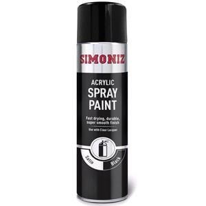 Basic Car Paints, Simoniz Satin Matt Black Aerosol - 500 ml, Simoniz