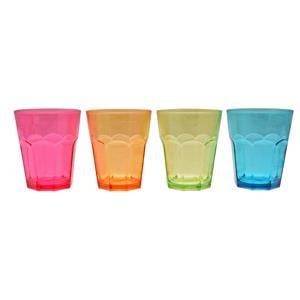 Utensils & Gadgets, Coloured Acrylic Soda Glasses - Pack of 4, FLAMEFIELD