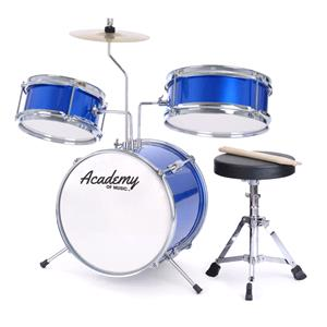 Games and Activities, Toyrific Academy of Music 3 Piece Kids Drum Kit, Toyrific