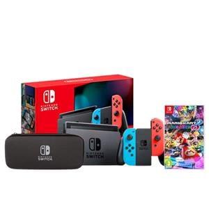 Gifts, Nintendo Switch Red & Blue - Mario Kart 8 Deluxe Bundle, Nintendo