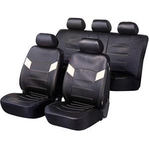 Seat Covers, Walser Essex Car Seat Cover Set - Black for Peugeot 207 Saloon 2007 Onwards, Walser